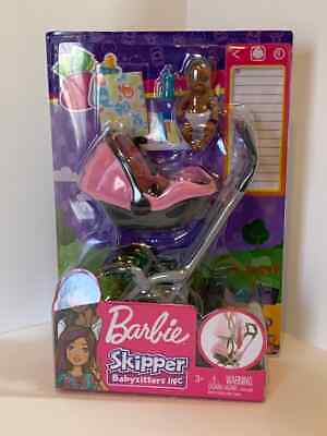 Barbie Skipper Babysitters INC Doll And Play Set Pink Stroller