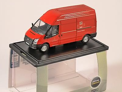 FORD TRANSIT LWB HIGH ROOF VAN Royal Mail 1/76 scale model OXFORD DIECAST
