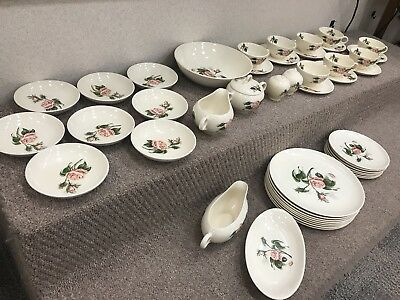 Amazing Vintage 1950 Universal Ballerina Moss Rose FULL SET of Dinnerware- RARE!