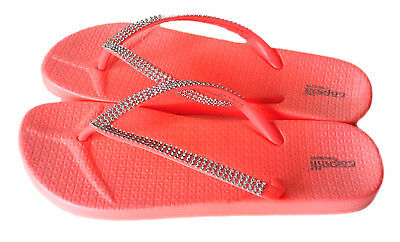 4357ff76a7e32 CAPELLI New York Womens Jeweled Slippers Hot Pink Flip Flops Sandal Shoe  Size 10