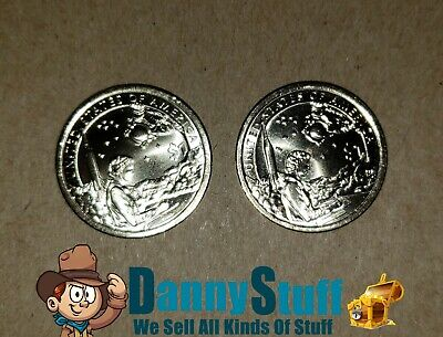 2019 P D SACAGAWEA NATIVE AMERICAN Indians In The Space Program Dollar Set PD BU