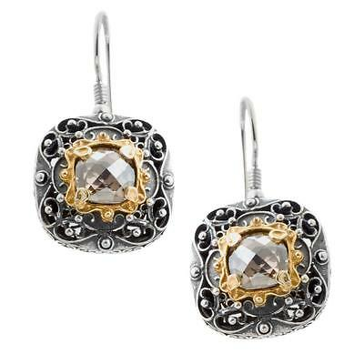 S190 ~ Sterling Silver & Swarovski Medieval Drop Earrings