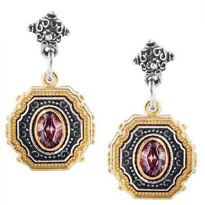 S230 ~ Sterling Silver & Swarovski Medieval Drop Earrings