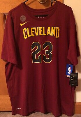 8bb1fddf0 Cleveland Cavaliers LeBron James NIKE NBA Men s Icon Player T-shirt 2XL  DRI-FIT