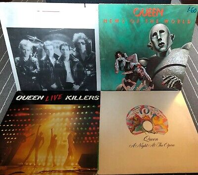 Queen Vinyl LP Lot The Game Live News Of World Night At Opera Killers Record