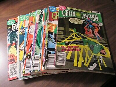Lot of 19 Different Green Lantern #124-161 DC Comic Book Collection Bronze Age