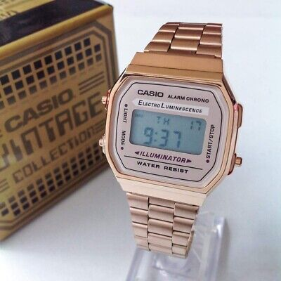 Casio Classic Digital Watch A168W Rose Gold Design Unisex Retro Vintage Melbourn