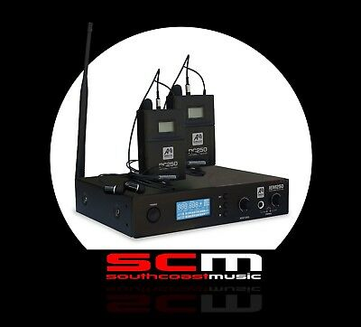 Ashton Smart Acoustic IEM250 Dual Wireless In Ear Monitor System w/ 2 Receivers