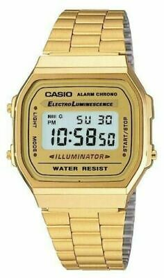 Casio Gold Classic Digital Watch A168W Gold Design Unisex Retro Vintage Melbourn