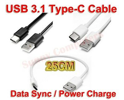 Short USB Type-C Adapter Cable Charger Cord For Samsung Galaxy S10+ S10 Plus AU