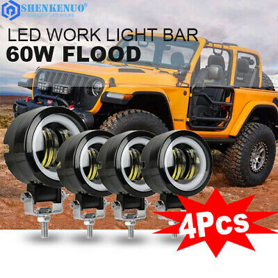 4X 3inch Cree Led Work Light 80W Cube Pods SPOT SUV Lamp Offroad ATV Jeep 4WD