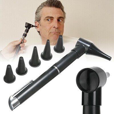 Black Penlight Otoscope Pen Style Light For Ear Nose Throat Clinical Examination