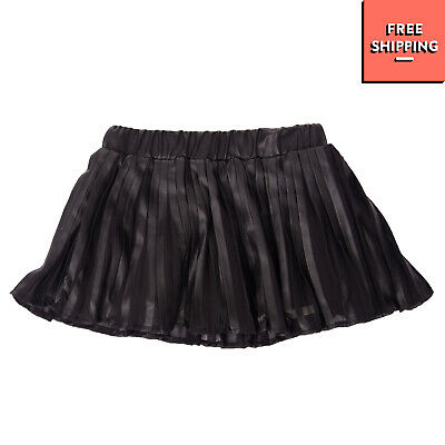 FUN & FUN Pleated Skirt Size 6M Black Partly Coated Elasticated Waist