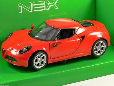 ALFA ROMEO 4C in Red 1/24 scale model by WELLY