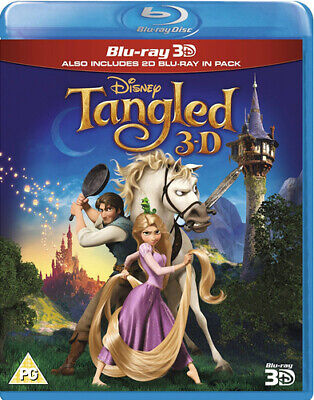 Tangled Blu-ray (2012) Nathan Greno cert PG 2 discs Expertly Refurbished Product