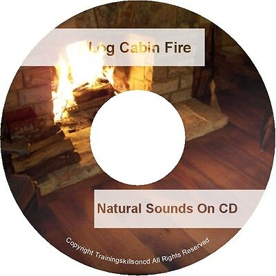 Natural Sounds LOG CABIN FIRE Nature Relaxation Sleep Aid Noise Audio CD