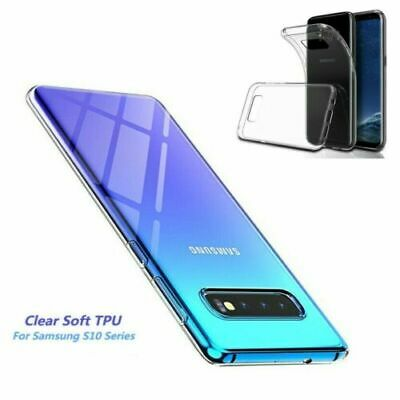 For Samsung Galaxy S10 Plus S10e Crystal Clear Ultra Slim TPU Phone Case Cover &