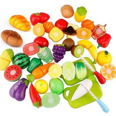 Fruit Pretend Kitchen Cutting Set Fruit Vegetable Food Reusable Role Play Toy