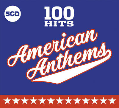 Various Artists : 100 Hits: American Anthems CD Box Set 5 discs (2019)