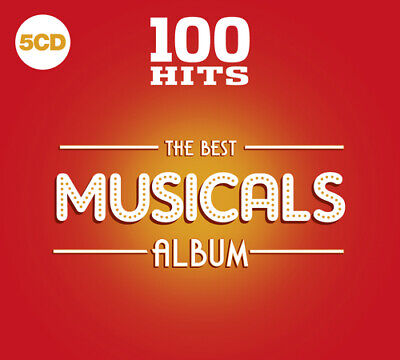 Various Artists : 100 Hits: The Best Musicals Album CD Box Set 5 discs (2019)