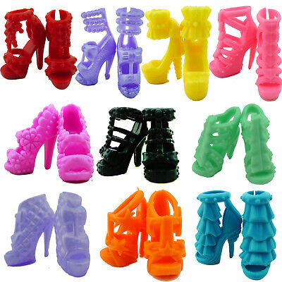 10x Shoes Summer Pretty High Heels Sandal Daily Accessories For Girl Doll Toy