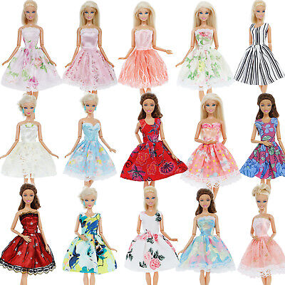 Colorful Mini Dress Party Accessories Clothes For Barbie Doll Toy Christmas Gift