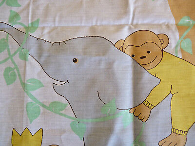 JUNIOR SAFARI  Quilting Cotton Cot Panel + 6 Cushion Panels + Co-ord Fabric