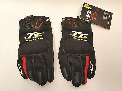 RST Isle Of Man TT Team CE Textile Gloves Red & Black