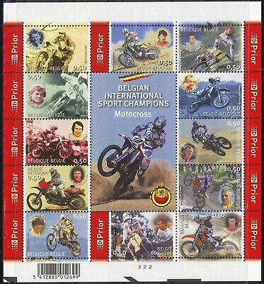 [Farde011] Belgium 2004 motorbikes good sheet very fine MNH. face value 6 €
