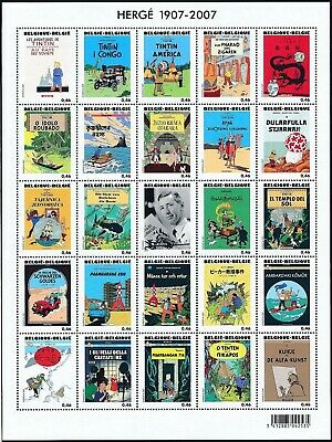 [Farde101] Belgium 2007 TINTIN - Strip comics - Hergé Good sheet very fine MNH