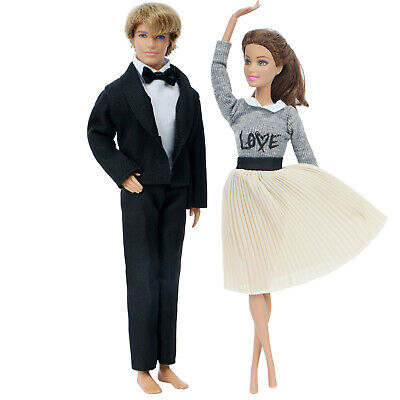 2 Set Fashion Formal Dinner Party Weeding Outfits Clothes For 11.5 in. Ken Doll