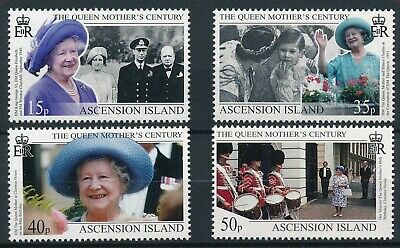 [H16050] Ascension Island 1999 QUEEN MOTHER Good set of stamps very fine MNH