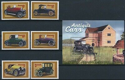 [H16090] Grenada 2000 ANTIQUE CARS Good lot set of stamps + sheet very fine MNH