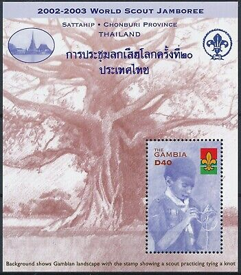 [H16303] Gambia 2002 SCOUTING Good sheet very fine MNH
