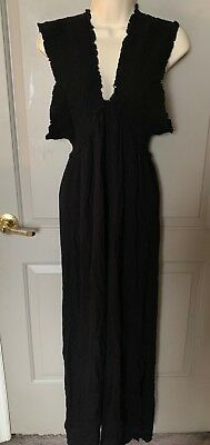 f908e62c30 Elan Swimwear Women's Black Beach Maxi Dress Cover Up Size Medium NEW