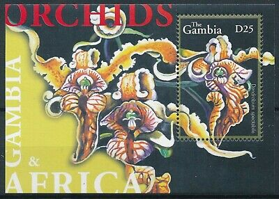 [H16353] Gambia 2001 ORCHIDS - Flowers - Flora Good sheet very fine MNH