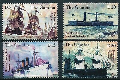 [H16945] Gambia 2000 BOATS & SHIPS Good set of stamps very fine MNH