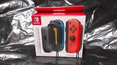 Nintendo Switch Joy-Con (L)/(R)AA Battery Pack Neon Blue/Neon Red Brand New*****