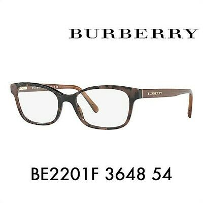 7db9cff7123f BURBERRY BE2201F (Asian Fit) 3648 Spotted Brown   Demo Lens 54mm Eyeglasses