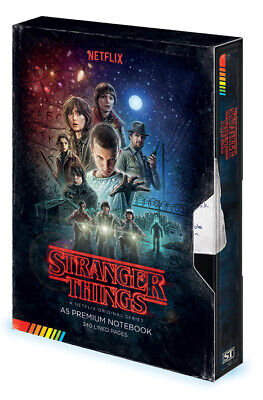 Stranger Things Vhs Premium A5 Bound Notebook 100% Official Quality Merch