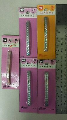 Vintage Barrettes! Heavy-duty! Stay Tight! Unique old hard to find retro items!