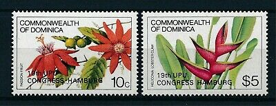 [H12335] Dominica 1984 : Flowers/UPU - Good Set of Very Fine MNH Stamps