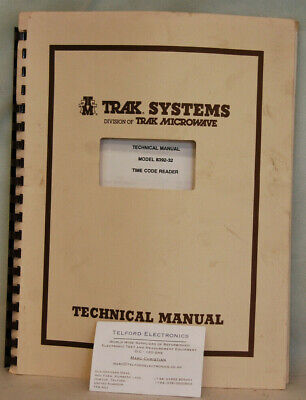 TRAK Systems 8392-32 Time Code Reader Technical Manual