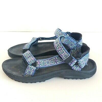 3b83cc597447f1 Teva Womens Size 7 Hurricane Blue Adjustable Sport Sandals Hiking Water 6471