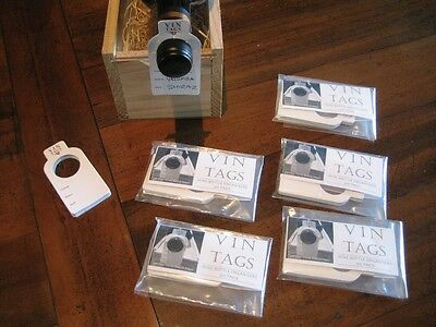 Wine Collection Organisers, Vin Tags - 5 packs of 50 wine bottle tags.