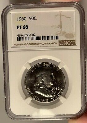 1960 50c NGC PR 68 Proof Franklin Half Dollar
