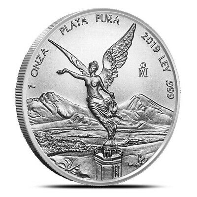 2019 Mexico 1 oz (1 Onza) Silver Libertad Coin .999 Fine - Gem Uncirculated