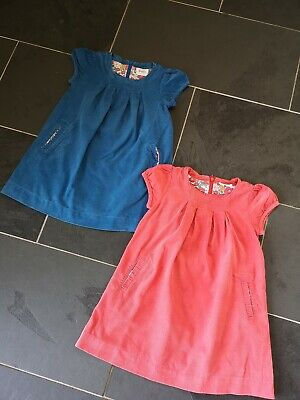 Very Good Condition Boden Cordaroy Dress Set Of 2 Pink Blue Age 4-5