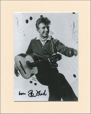 Tommy Steele Singing the Blues Original Signed Mounted 10x8 Autograph Photo COA