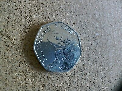 RARE 50p COIN - BEATRIX POTTER - MR JEREMY FISHER 2017 - Free Postage